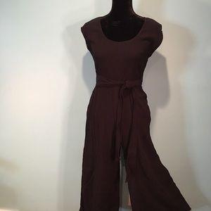 Anthropologie Black Crop Jumpsuit Size 2